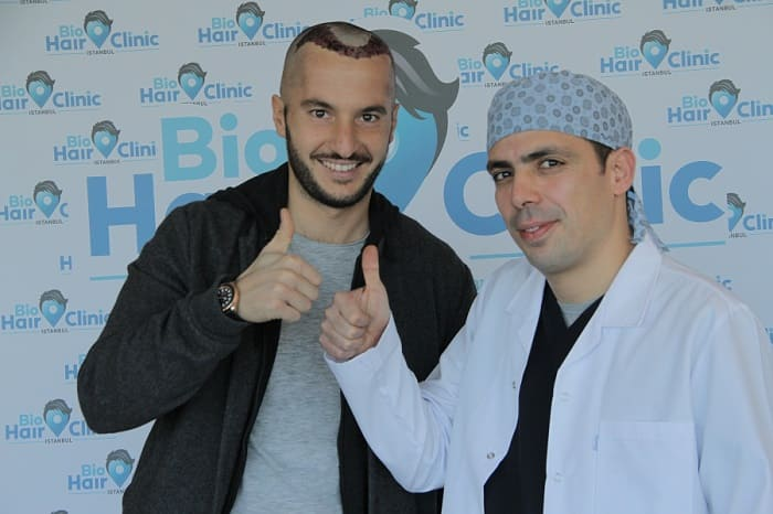 DHI hair transplant - Dr. Ibrahim with Patient