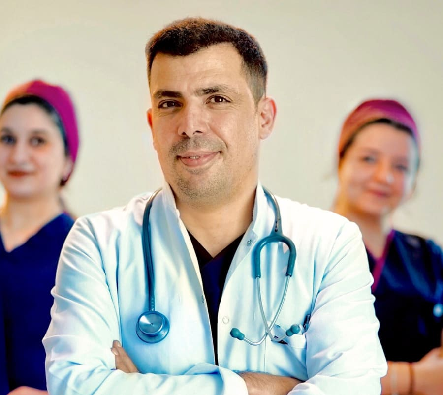 Dr Ibrahim and his team for the hair transplant in turkey