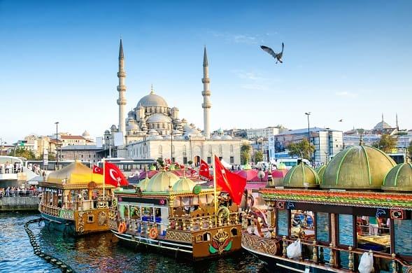 Vista de la Mezquita de Solimán en Estambul