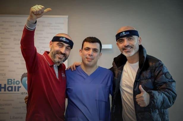 Dr. Ibrahim y pacientes - Bio Hair Clinic