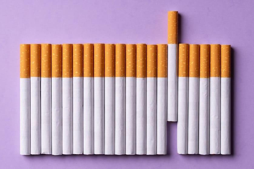 Fila di sigarette