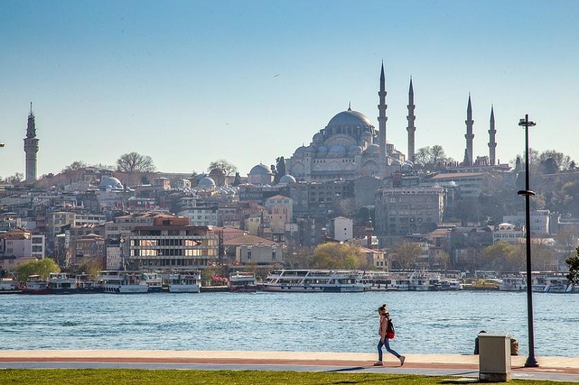 Schöne Sicht auf Istanbul