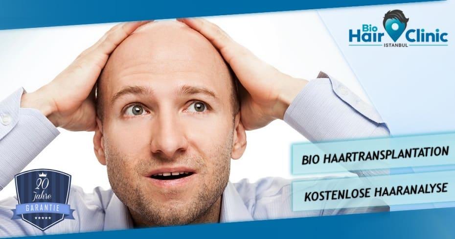 Haare statt Glatze Bio Haartransplantation bei Halbeglatze Bio Hair Clinic