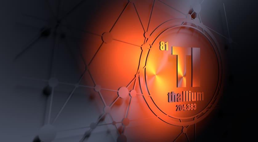 Die chemische Komponente von Thallium mit 3D-Effekt