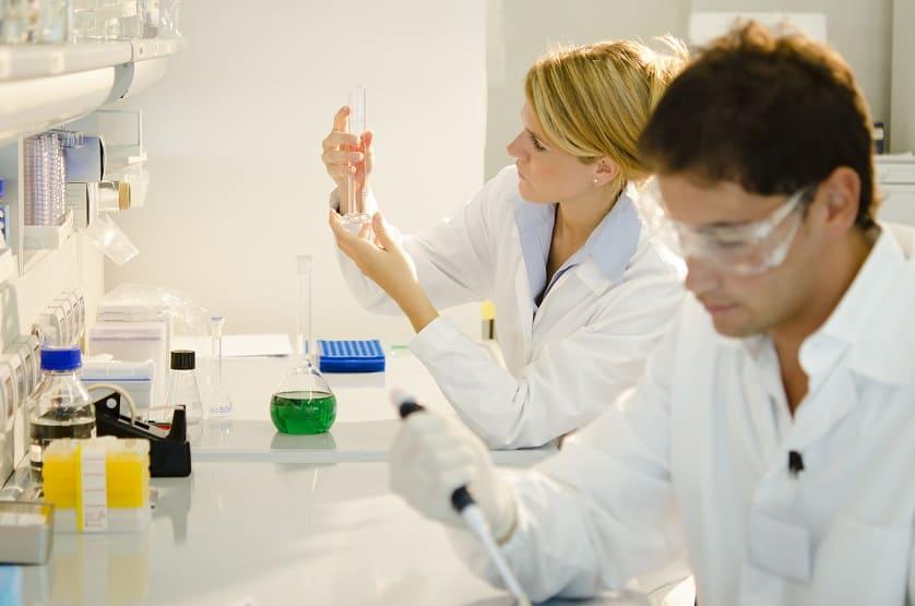 Forscher während der Arbeit