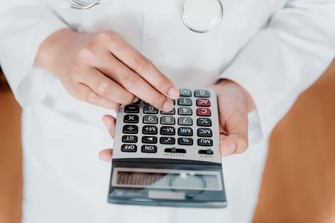 Berechnung des Preises via Taschenrechner