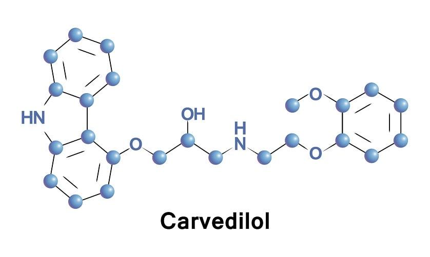 Die chemische Zusammensetzung von Carvedilol