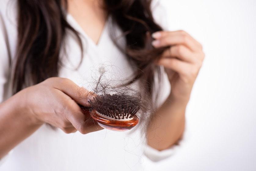 Ausgefallene Haare in der Bürste