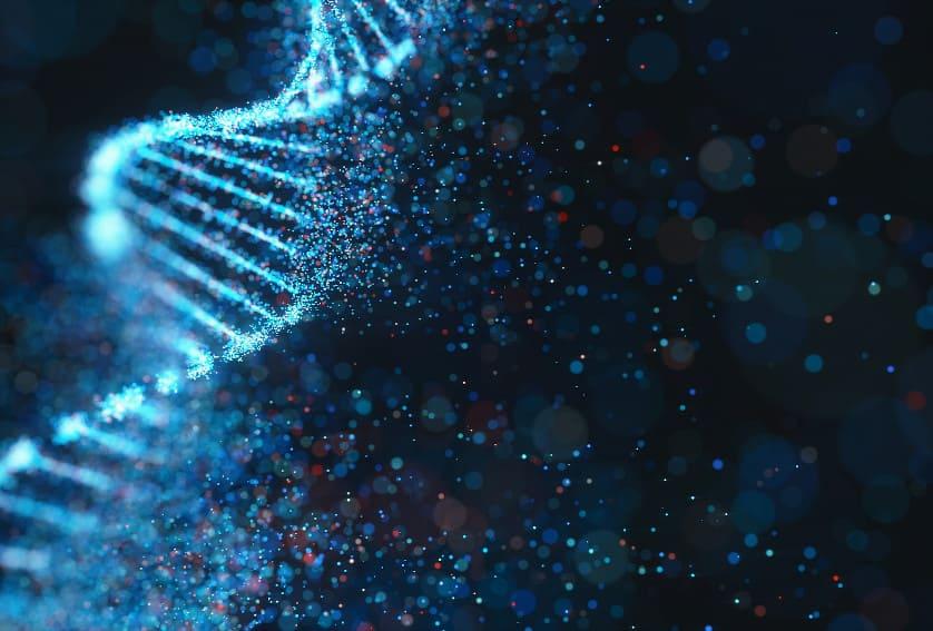 3D Illustration des genetischen Codes