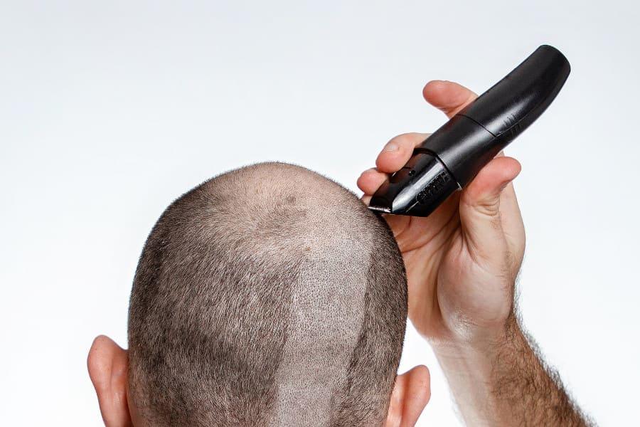 Kopf haare rasieren mann Sich selber